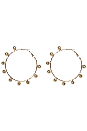 STUDDED HOOP EARRINGS in colour GOLD EARTH