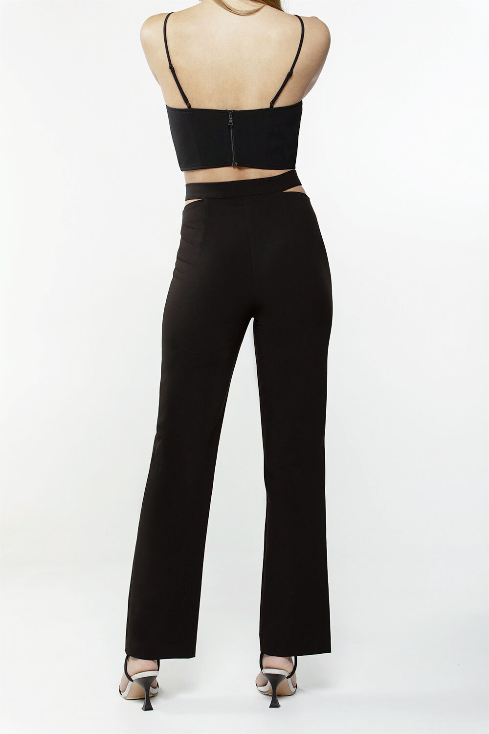KYLIE CUT OUT PANT in colour CAVIAR