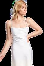 SLIP STRAP DRESS in colour CLOUD DANCER