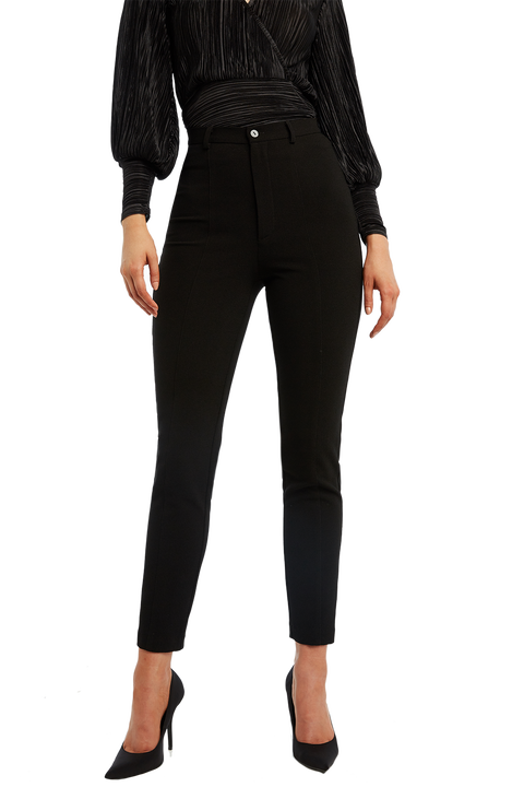SKINNY PINTUCK PANT in colour CAVIAR