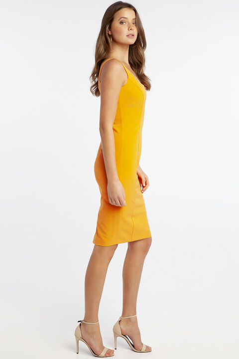 CHIARA DRESS in colour FLAME ORANGE