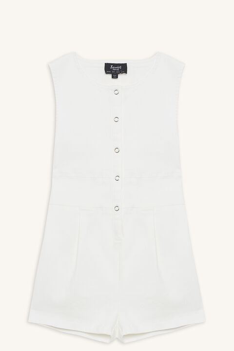 MIAMI PLAYSUIT in colour CLOUD DANCER