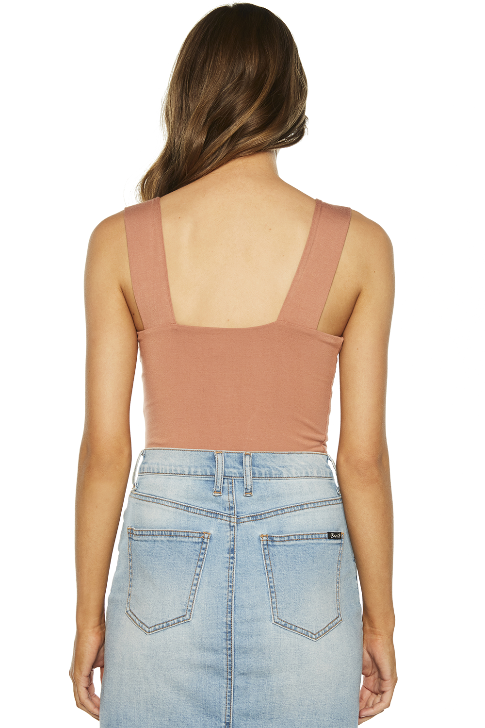 MIMI BODYSUIT in colour COPPER BROWN