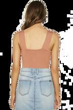 MIMI BODYSUIT in colour COPPER BROWN