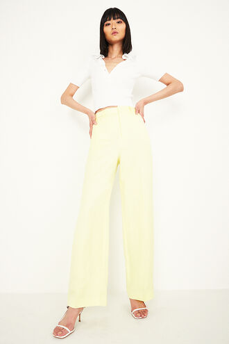 CROP COLLAR TEE in colour BRIGHT WHITE