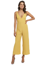 LARA WIDE LEG JUMPSUIT in colour MISTED YELLOW