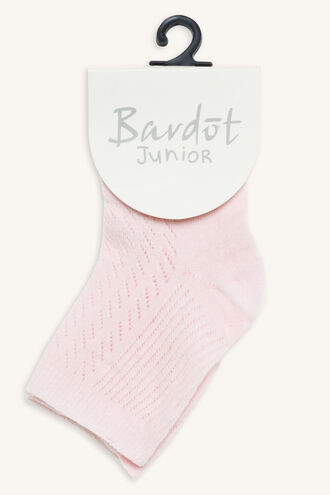 KNITTED BABY SOCK in colour VEILED ROSE
