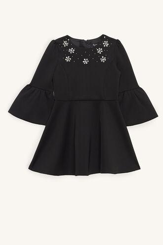 AUDREY JEWEL DRESS in colour JET BLACK