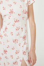 THE FLORAL MIDI DRESS in colour PEARLED IVORY