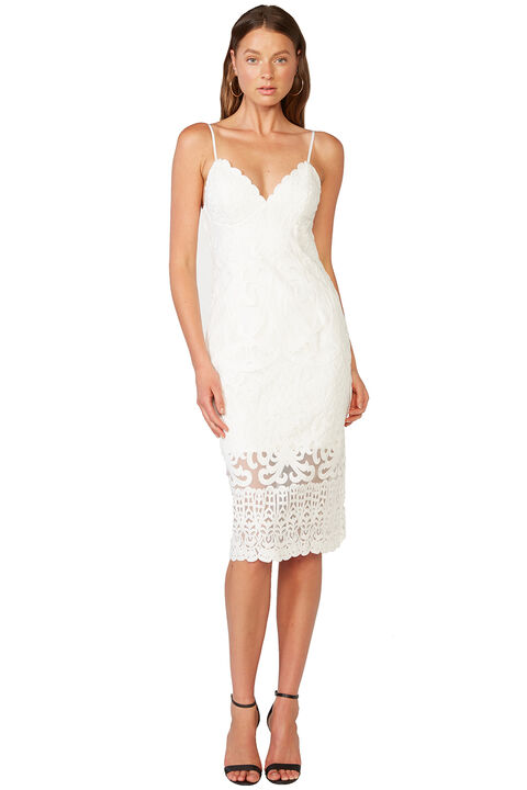 GIA LACE DRESS in colour CLOUD DANCER