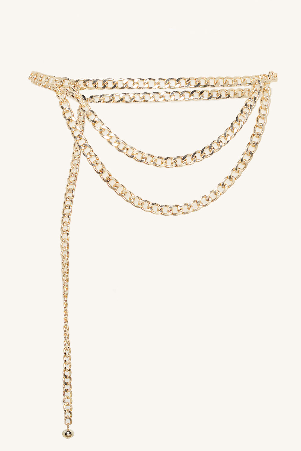 CHAIN BELT in colour GOLD EARTH