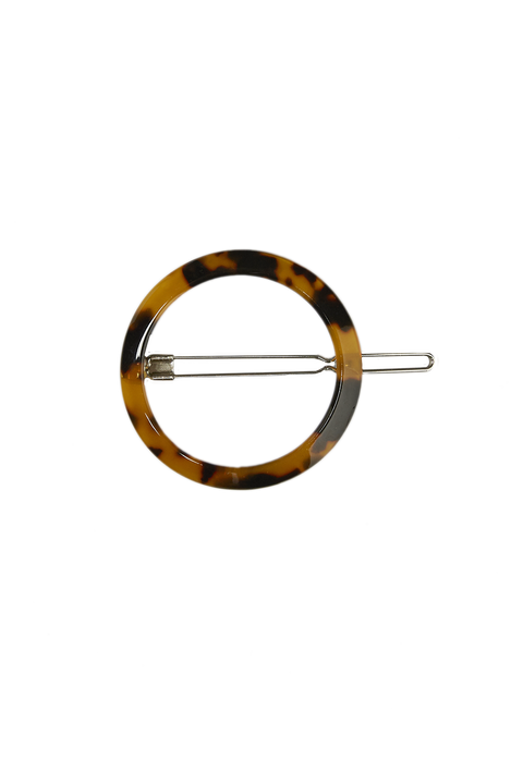 ROUND HAIR CLIP in colour TORTOISE SHELL