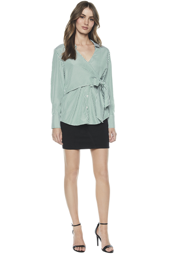 WRAP TIE SHIRT in colour GREENLAKE