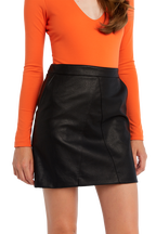 ALEXIS SKIRT in colour CAVIAR