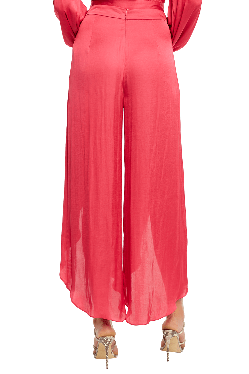 KAYLAH PETAL PANT in colour BEETROOT PURPLE
