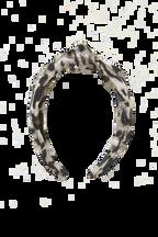 LEOPARD METALLIC KNOT HEADBAND in colour ANTELOPE