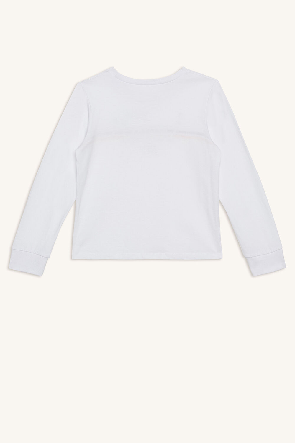 SAUVAGE LONG SLEEVE TOP in colour BRIGHT WHITE