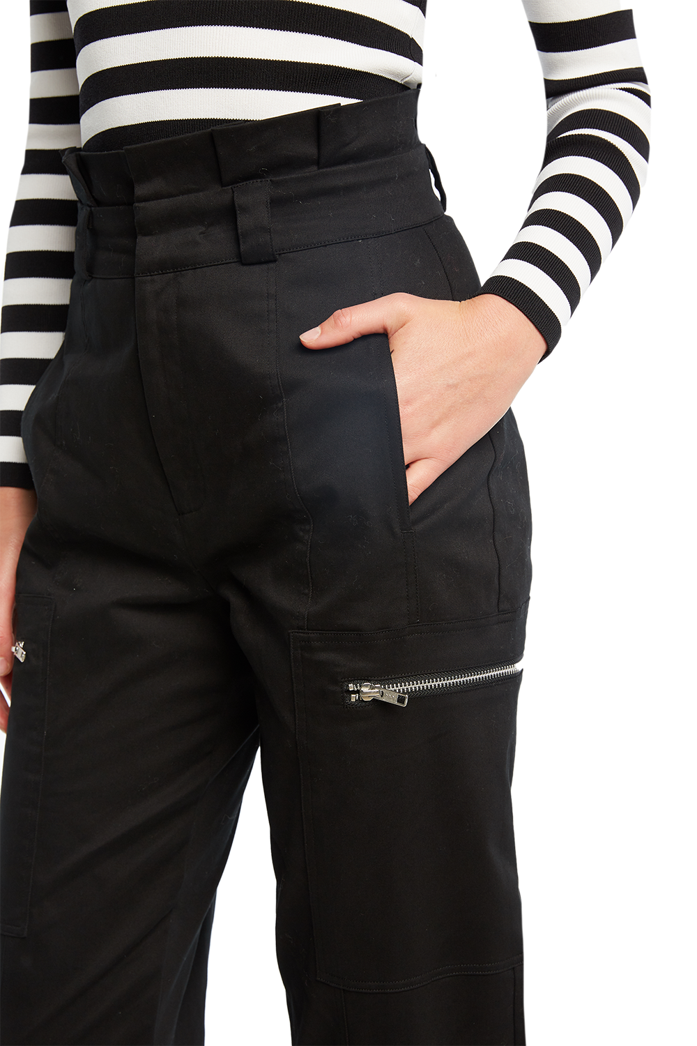 KAYA CARGO PANT in colour CAVIAR