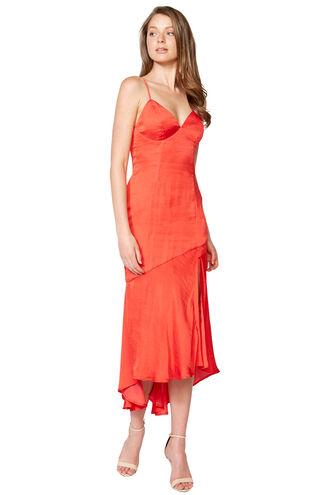 DEANNA SLIP DRESS in colour FIESTA