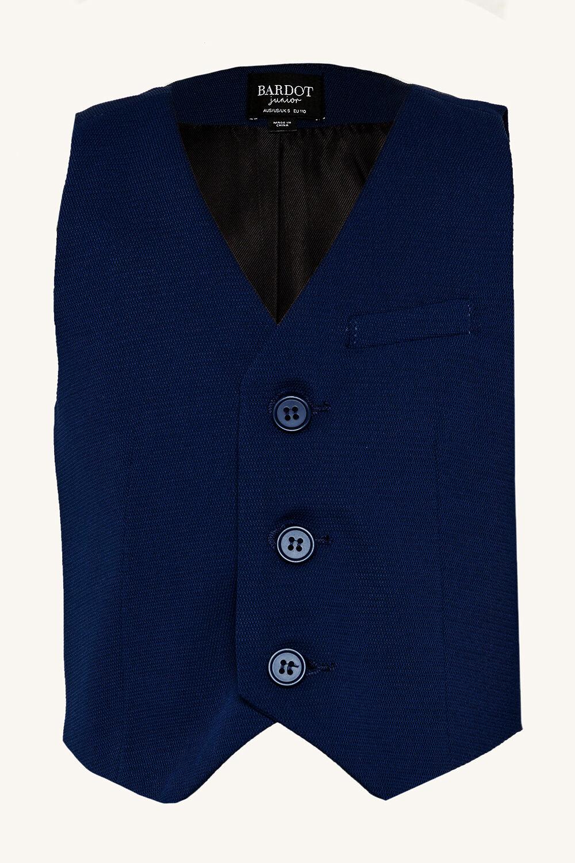baby boy TEXTURED SUIT VEST in colour DRESS BLUES