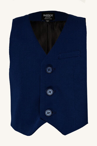 TEXTURED SUIT VEST in colour DRESS BLUES