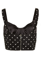 POLKA ODETTE TOP in colour CAVIAR