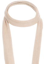 ROLL THIN SCARF in colour BEIGE