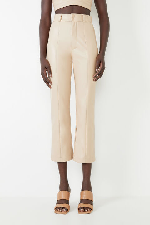 POLLY VEGAN LEATHER PANT in colour MOONLIGHT