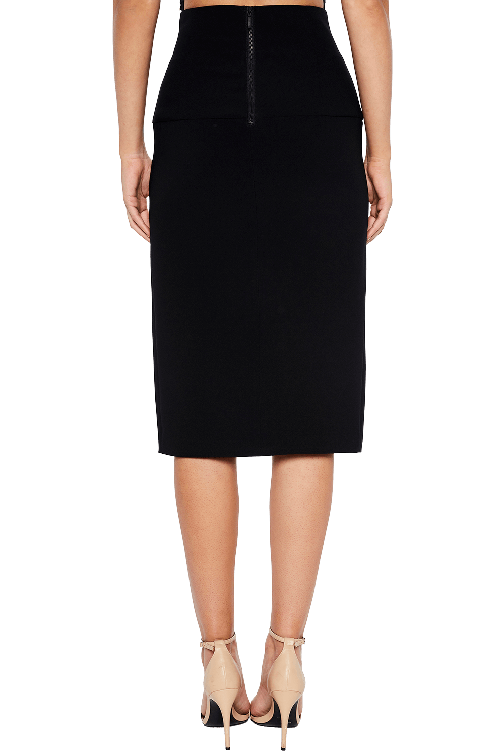 GEORGIE WRAP SKIRT in colour CAVIAR