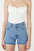 OSKAR LACE BODYSUIT  in colour BRIGHT WHITE