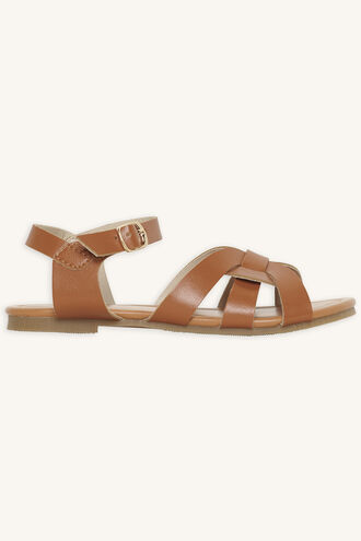 AUDREY TWIST FRONT SANDAL in colour TAN