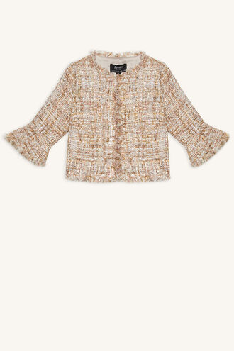 ARI BOUCLE JACKET in colour CLOUD DANCER