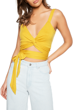 TWIST TIE CAMI TOP in colour MISTED YELLOW