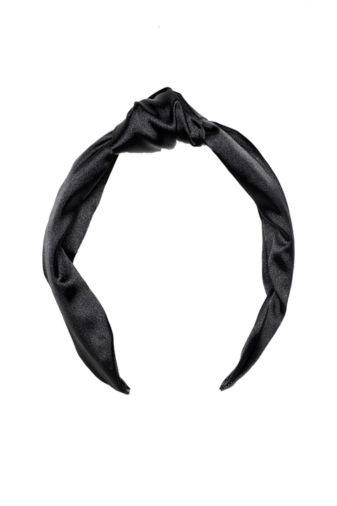 KNOT SATEEN HEADBAND in colour METEORITE
