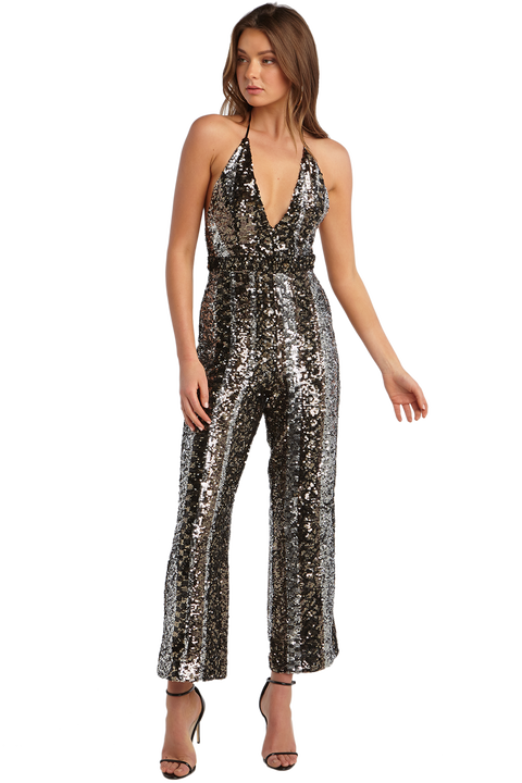 DISCO JUMPSUIT in colour GLACIER GRAY