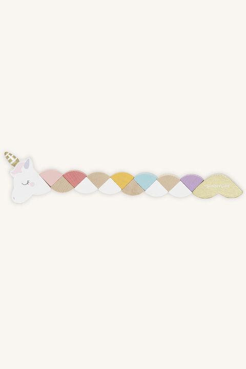 UNICORN WORM ANIMAL in colour BRIGHT WHITE