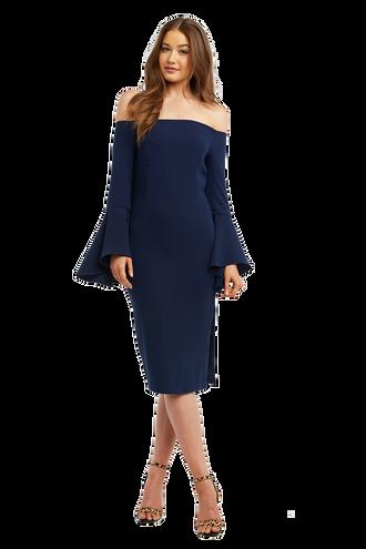 SOLANGE DRESS in colour MARITIME BLUE