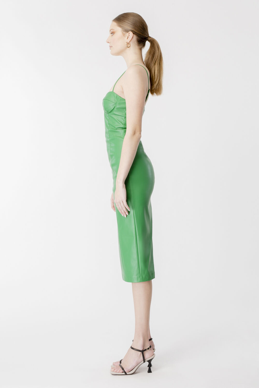 SIBELLA DRESS in colour CLASSIC GREEN