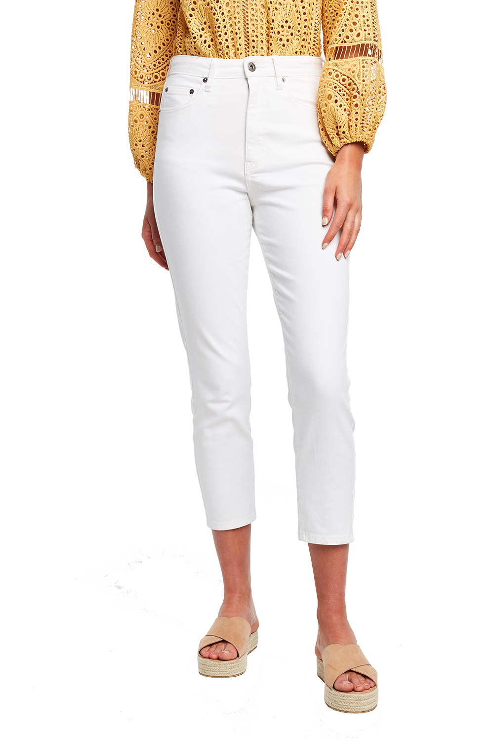 SIENNA SUPER HIGH DENIM JEAN in colour CLOUD DANCER