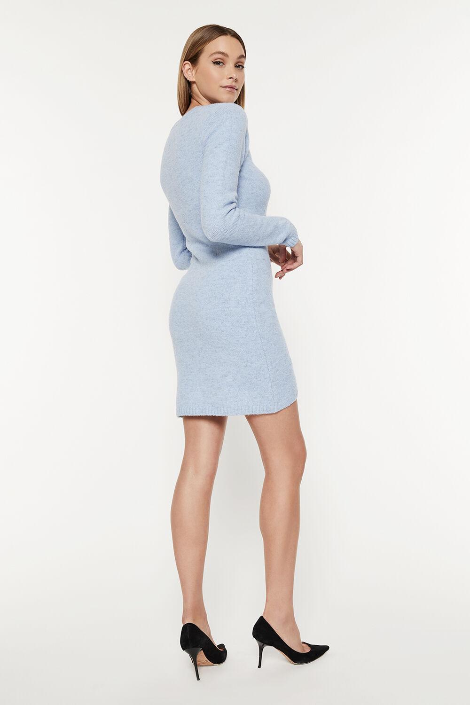 EVIE MINI KNIT DRESS in colour CROWN BLUE