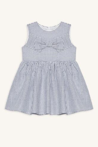 LADY STRIPE DRESS in colour BRIGHT WHITE