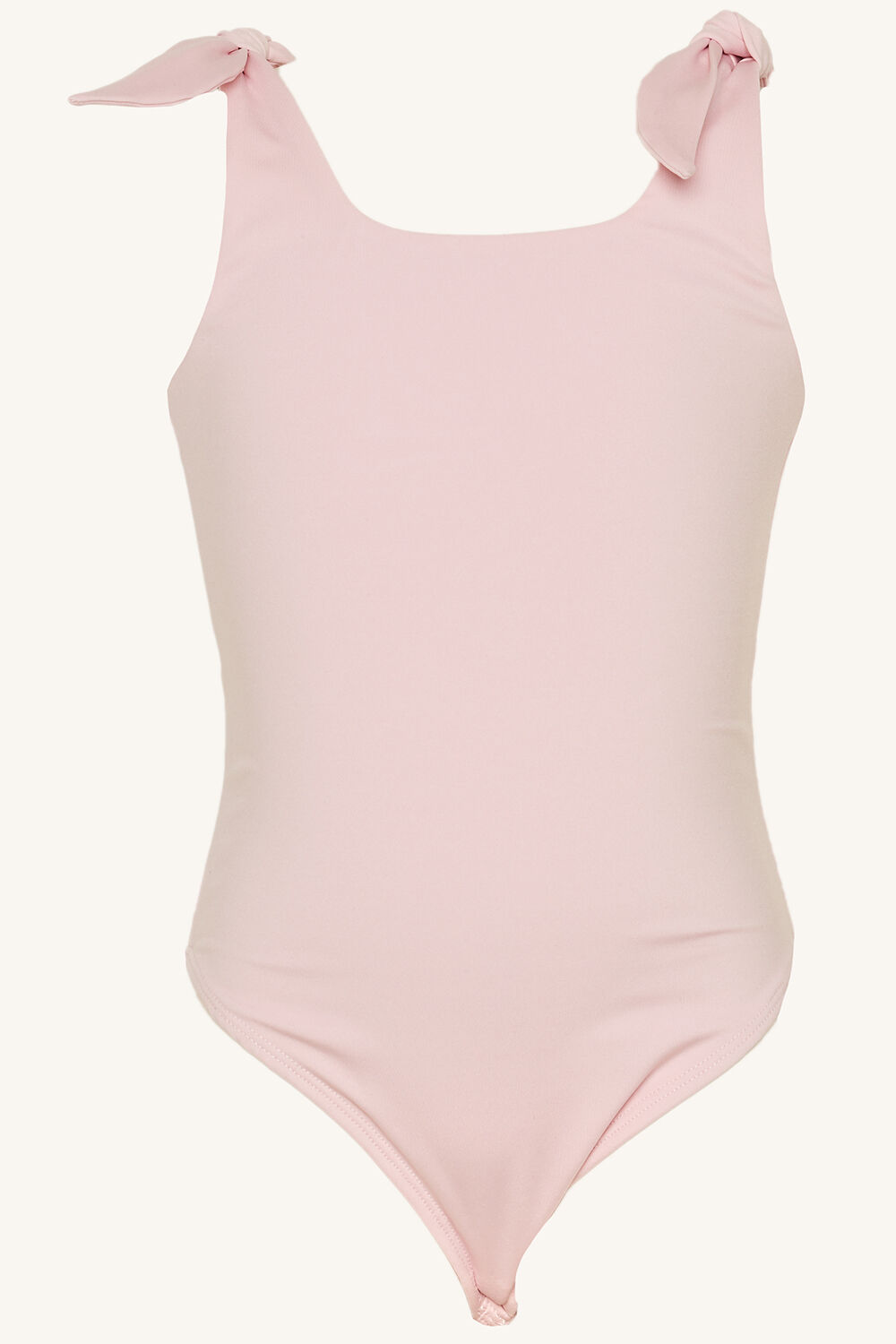 tween girl LEILA BOW BODYSUIT in colour BARELY PINK