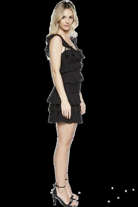 BABYLON DRESS in colour JET BLACK