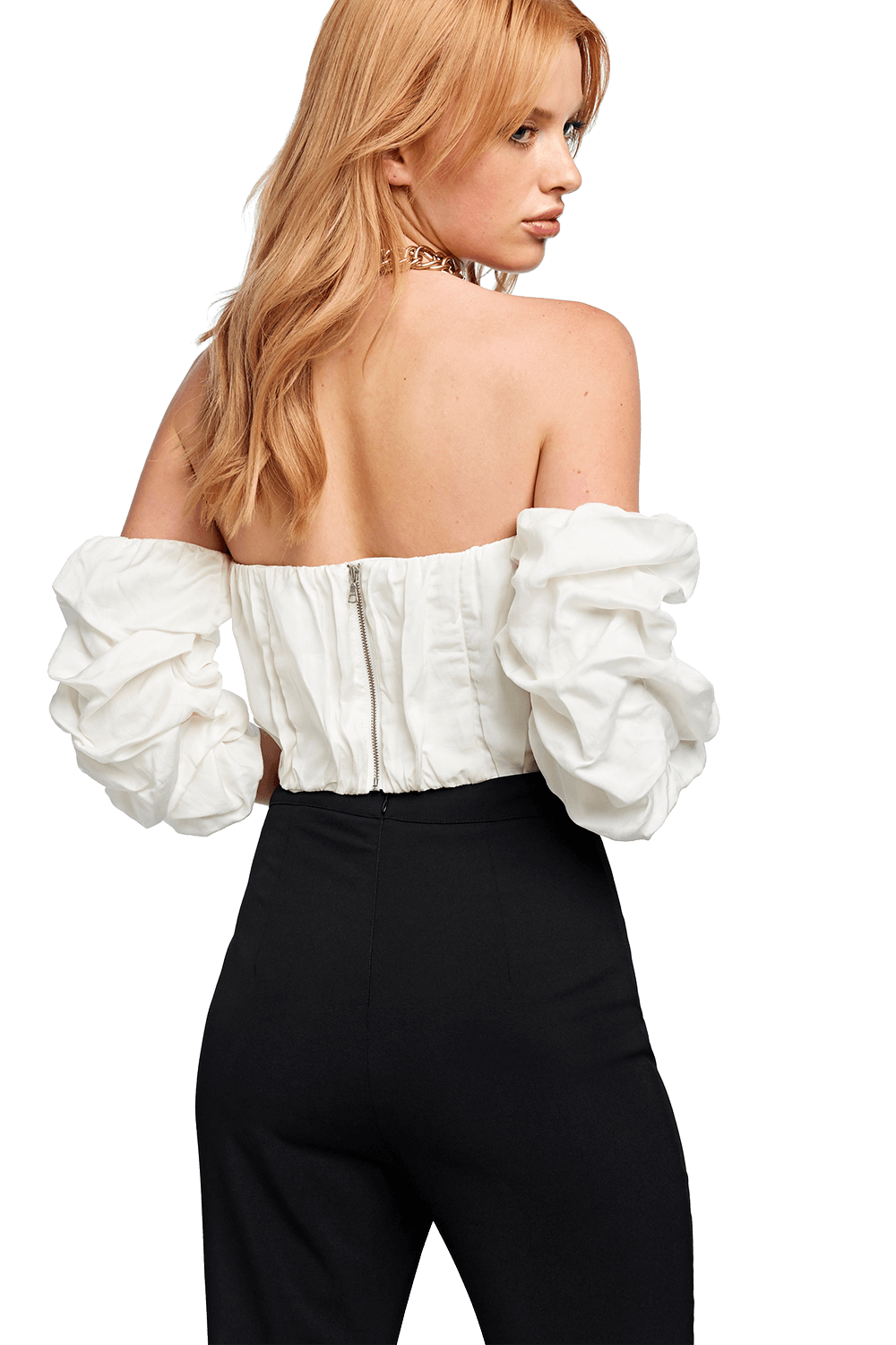 GATHERED BUSTIER in colour BRIGHT WHITE