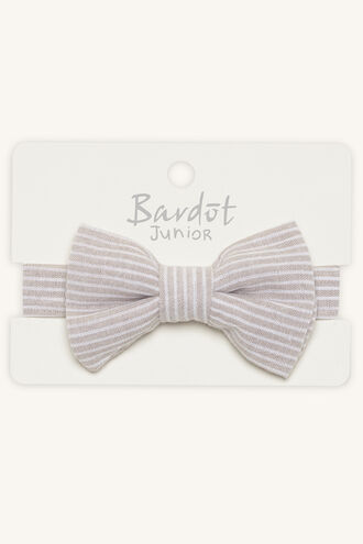 BENNY STRIPE BOW TIE in colour SHELL
