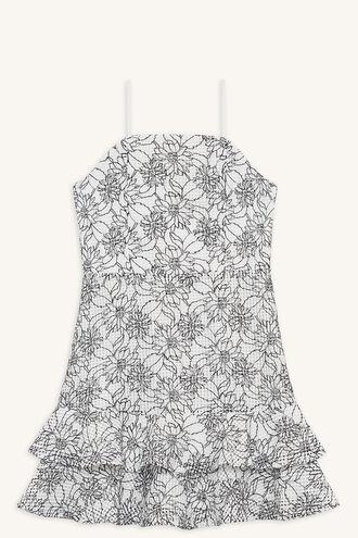 CHIARA TIER DRESS in colour CLOUD DANCER