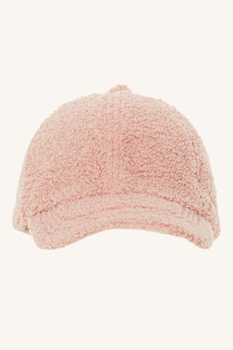 TEDDY CAP in colour PINK CARNATION