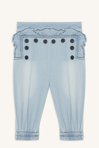 CHAMBRAY SAILOR PANT in colour CASHMERE BLUE