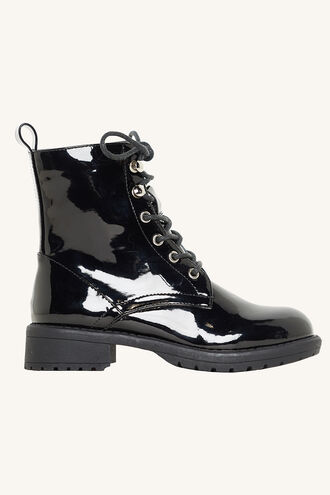 LACE ME UP BOOT in colour METEORITE