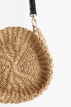STRAW SIDE BAG in colour NATURAL